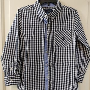 Andy & Evan Gingham button down shirt